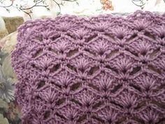 When it comes to beautiful and easy crochet afghan patterns, the Simply Elegant Crochet Afghan has quickly become one of our favorites. With a combination of the crochet shell stitch and crochet v stitch, you'll create a lacy crochet blanket pattern. Crochet Afghans, Motifs Afghans, Crochet Stitches Patterns, Afghan Crochet Patterns, Knitting Patterns, Crochet Blankets, Baby Blankets, Baby Afghans, Crochet Crafts
