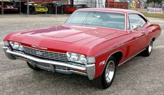 This was my second vehicle. 1968 Impala SS 327 275hp 4speed. It had a black interior with bucket seats with a floor console. I added a Chevrolet 8 track tape player under the dash and Chevy spinner spoke wheel covers.