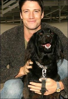 What's better than a hottie and his dog!  James Scott DAYS