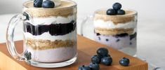 Satisfy your sweet tooth with this healthier dessert recipe, packed with plenty of protein and antioxidants. Blueberries and never tasted so good!