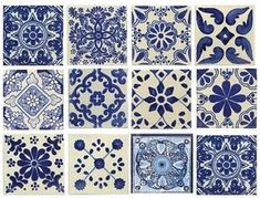 10 Large Blue & White Mexican or Spanish Style Tiles for Home Decor, Accent pieces or crafts Blue & white, mixed styles, Mexican/Spanish Decorative Ceramic Talavera Tiles. These are beautiful & truly the perfect decorative accent. Style Tiles, Mexican Style, Mexican Spanish, Spanish Tile, Spanish Colonial Kitchen, Spanish Style Homes, Spanish Style Decor, House Tiles, House Floor