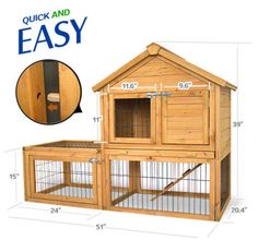 """51""""*26.4""""*39""""Backyard Wood Chicken Coop Hen House Rabbit Hutch Small Animal Cage"""