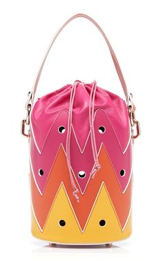 Rose Hole Leather Bucket Bag by Sara Battaglia SS19 0dcd3d82a26a9