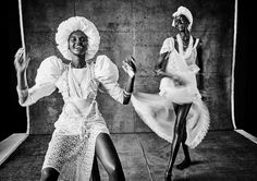 The photographer, Mariano Vivanco for Models.com, was inspired by the Afro-American religion, Santeria, which is a Spanish word that means worship of saints.