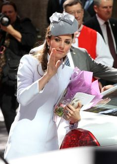 Catherine, Duchess of Cambridge leaves St Andrew's Cathedral for 2014 Easter Sunday Service in Sydney, Australia.