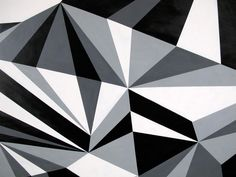 """monochromatic geometric art - this would look great on a canvas. I might have to get my """"artistic hat"""" on Black Canvas Paintings, Canvas Art, Disney Drawings, Art Drawings, Alien Drawings, Geometric Art, Geometric Fashion, Op Art, Texture"""