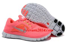 Nike Free Run 3 Neon Pink Silver Women's Running Shoes   #Pink #Womens #Sneakers
