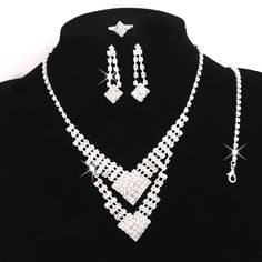 Beora #Austrian #Diamonds #Silver Plated Square #Jewellery Sets @ Rs. 749. We offer free shipping and Cash on Delivery (COD) all over the #India. For more details visit us at Trendymela.com