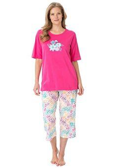 56e3129cdb Women s Plus Size 2-Piece Pajamas . Heather Grey Cherries