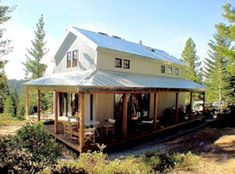 High Sierra Cabin (1,018 sf) plans: $2,750  A dramatic 2 bedrooms/ 1.75 bath traditionally styled mountain cabin designed for all the seasons. Off-grid solar electric, passive solar heating and cooling, solar water heating, SIP construction, fire and vandal proof, loft, and wrap around porch.