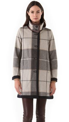 stella blanket coat with leather trim...sigh