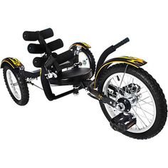 Mobo Mobito Ultimate Three Wheel Cruiser Kids Youth Ride On 16 Black Trike NEW - Ideas of Tricycle Velo Tricycle, Mountain Bikes For Sale, Traction Avant, 3rd Wheel, Sports Toys, Ride On Toys, Motorcycle Style, Rubber Tires, Custom Bikes