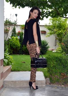 leopard pants !!!!! wow so feeling this look!! adore <3
