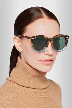 Karen Walker | Super Duper Thistle Round-Frame Acetate Sunglasses