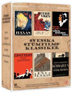 Svenska Stumfilmsklassiker - Boxset (6 disc) Silent Film, Baseball Cards, Classic, Books, Music, Derby, Libros, Book, Classic Books