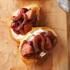 Caramelized Onion-and-Cranberry Cheese Toasts from the Better Homes and Gardens Must-Have Recipes App