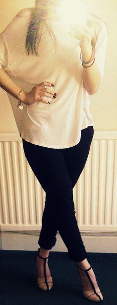 Top Topshop, Jeans Miss Selfridge, Heels Zara