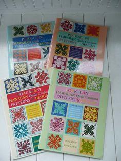Set of Four Poakalani Hawaiian Quilt Pattern and Design Books