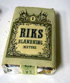 Riks Blandning Mixture No 1. Svenska Tobaksmonopolet tillverkat 1941-1972