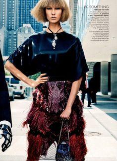 Karlie Kloss y Daft Punk para Vogue US