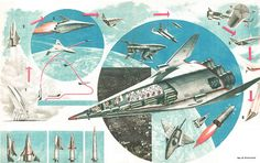 Soviet orbital plane concepts. Don't know why they were in such a hurry to get anywhere.