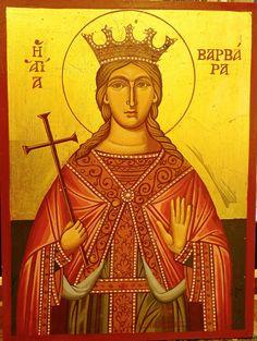 ST. BARBARA distance:40x30cm Saint Barbara, Orthodox Icons, Byzantine, Distance, Buddha, Saints, Angels, Statue, Art
