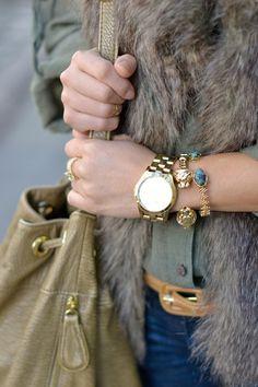 bracelet stack // @baublebar #asgoodasgold