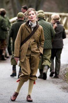 Barbour Ladies tweed breeks and shooting jacket