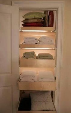 Linen closet - pull out drawers