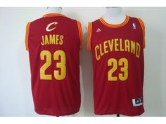 NBA Cleveland Cavaliers 23 James Red 2014 Jerseys