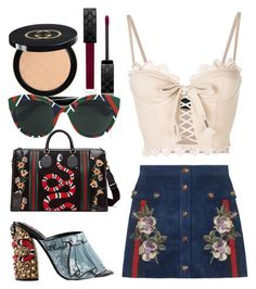 """GUCCI OVERLOAD 🐍"" by serenadarwiche on Polyvore featuring Gucci and Puma"