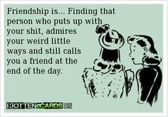 Friendship is… finding that person