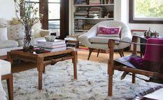 Beni Ourain in designer Erica Tanov's Californian home. Photo Kelly Iishikawa, styling Rod Hipskind