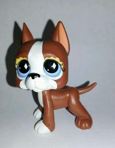 Littlest Pet Shop Dog Brown White Great Dane Blue Eyes #588 Preowned LPS in Toys & Hobbies, Preschool Toys & Pretend Play, Littlest Pet Shop | eBay