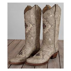 Circle G Embroidered Cowboy Boot ($170) ❤ liked on Polyvore featuring shoes, boots, grey, cowboy boots, cowgirl boots, grey boots, western boots and tall grey boots