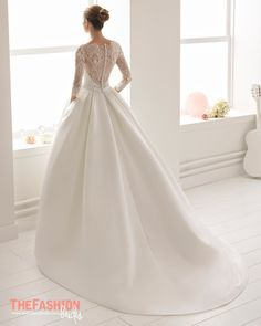 rosa clara 2017 bridal sleeveless bateau neckline simple clean drop waist ball gown wedding dress with pockets cover lace back chapel train (nao) bv -- Rosa Clará 2017 Bridal Collection women Classic Wedding Dress, Dream Wedding Dresses, Bridal Dresses, Wedding Gowns, Ball Dresses, Ball Gowns, Dresses Dresses, Wedding Dress Undergarments, Weeding Dress