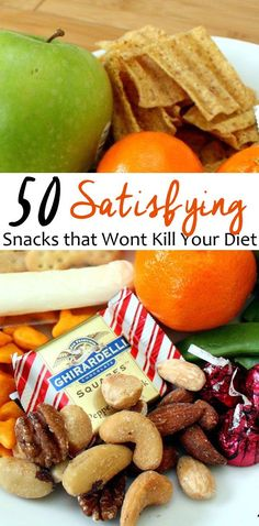 50 healthy and satisfying snacks that won't kill your diet
