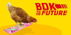 """""""Where we're going we don't need waq2ß44rrrr4t6fhjg."""" #backtothefuture #chickentweet"""