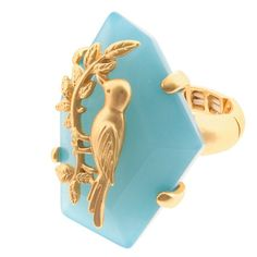 Stretch Band Ring with Blue Stone Free Shipping, No Fees $20.00