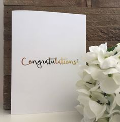 Congratulations Card Set / Gold Foil Card Set / Blank Greeting Cards by PaisleyAndJuneCardCo on Etsy
