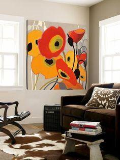 Abstract Flowers, Abstract Art, Framed Artwork, Wall Art, Wall Mural, Botanical Art, Painting Inspiration, Find Art, Flower Art