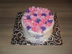 Rozen en parels taart/ Roses and pearl cake