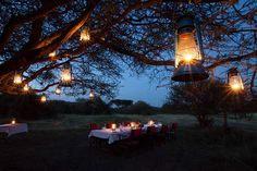 Ker & Downey Mobile Tented Camp - Dinner time!