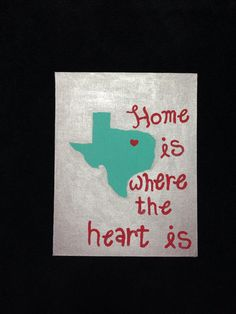 Texas canvas painting