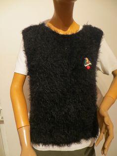 handgestrickter Pullunder, Merino und Mohair T Shirts For Women, Knitting, Clothes, Tops, Fashion, Ponchos, Sleeveless Sweaters, Scarf Crochet, Women's T Shirts