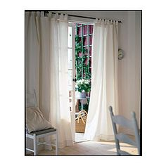 """LENDA Curtains with tie-backs, 1 pair - bleached, 55x118 """" - IKEA good for 10 ft ceilings"""