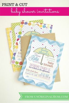 "Professionally printed ""print and cut baby shower invitations with your Silhouette - even when you don't have a printer!"