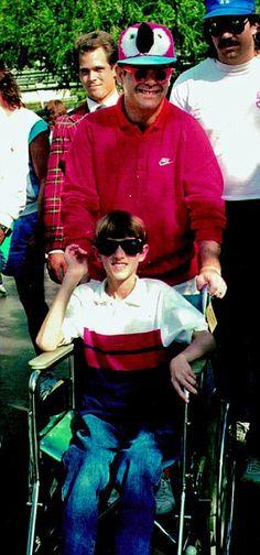 Day out: Elton with Ryan in Disneyland in 1986 http://www.dailymail.co.uk/tvshowbiz/article-2173528/Elton-John-book-Singer-pays-tribute-AIDS-victim-Ryan-White.html#