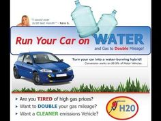How To Run Your Car On Water - Run Auto On Water And Gas And Save Money ... Hydrogen Car, How To Save Gas, Watch Funny Videos, Funny Video Clips, Diesel Cars, Motor Car, Saving Money, Mlb Games, Automobile