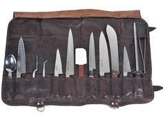 Chef Knife Bags, Tool Roll, Knives And Tools, Magnetic Knife Strip, Business Card Holders, Handmade Bags, Knife Block, Leather Working, Kitchen Knives